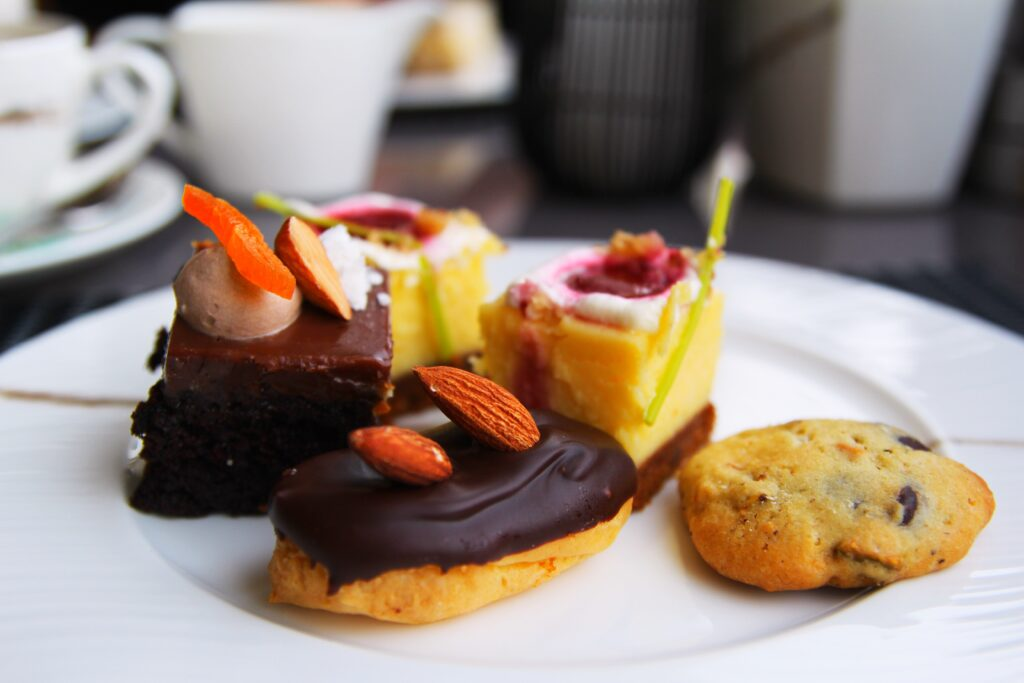 Sweet treats at the Continental Club Lounge
